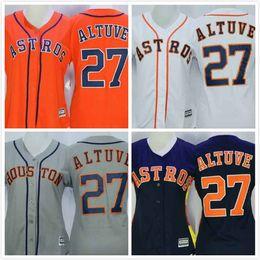 womens jose altuve jersey 27 astros baseball jersey throwback full stitched embroidery logo orange grey white women houston astros