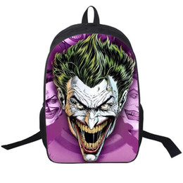 3D Batman Joker Games Backpacks Unisex Boys Girls Fashion Shoulder Bags  Schoolbag Sport Travel knapsack Rucksacks cb06324fab4d7