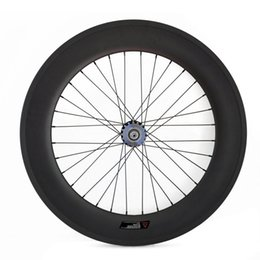 Bicycling Gear Canada - Track Fixed Gear Carbon Wheels 25mm Width Carbon Clincher Tubular Bicycle Racing Track Single Speed Wheelset