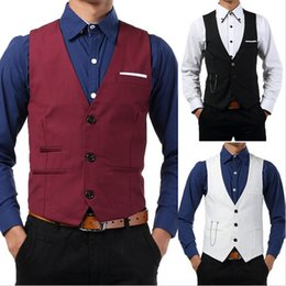 Entreprise Plus Mince Taille Pas Cher-Wholesale- Handsome Gentlemen Hommes Casual Formal Slim Fit Business Tops Vestes Suit Waist
