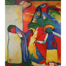 $enCountryForm.capitalKeyWord UK - Handmade oil painting Wassily Kandinsky Improvisation 6 (African) modern art abstract pictures for Living room decor
