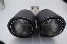 Exhaust pipE tips for cars online shopping - classical Inlet51 mm outlet76 mm carbon fiber Stainless Steel exhaust tip exhaust pipe muffler for universal brands car