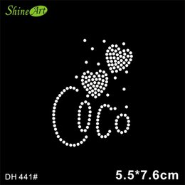 fccea76a Free shipping Bling Bling Crystal Heart Hotfix Motif Iron On Rhinestone  Transfer Design For Garment DIY DH441#