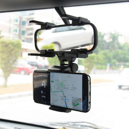 $enCountryForm.capitalKeyWord Canada - Car Rearview Mirror Mount Truck Auto Bracket Cell Phone Holder Cradle for iphone 7 7 Plus 6S for Samsung S8 GPS