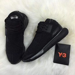 Badminton Y3 NZ - All Black White Color Mens Y3 Qasa High Top Sneakers Good Quality Womens Shoe Unisex Men Y-3 Black Red Shoes Boots Size 36-45