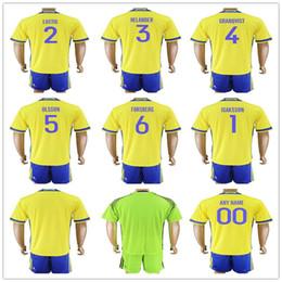 65111ff85 ... Teams Sweden Soccer Jersey Suit 2017 18 Yellow ISAKSSON LUSTIG HELANDER  GRANQVIST OLSSON FORSBERG LARSSON OSCAR 2016-2017 Sweden Home Shirt ( Ibrahimovic ...