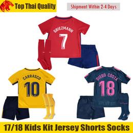 13027eeee Discount atletico madrid soccer jerseys shorts 17 18 Atletico Madrid  GRIEZMANN Kids Soccer Jerseys 2018 F