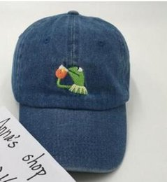 8e434d709ef Kanye West Bear Dad Hat Kermit Baseball Cap women men i feel like pablo Caps  Snapback Casquette hiphop drake 6 god yeezus hats