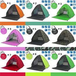 Tents Camping Gear Canada - Outdoors Gear Tents Hiking Camping Shelters for 2-3 People 50+ UV Protection Tent Beach Lawn Graduation Party Home Travel 10 PCS DHL Fedex