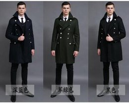 men s cashmere trench coat Australia - Men in the spring and autumn fashion new business cashmere big yards of restoring ancient ways of England trench coat   S-6XL