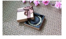 Gift Boxes For Jewelry Set Canada - Vintage Chocolate Bangle Box for Jewelry Set Unique Bow Tie Gift Boxes for Bangles 8.5*8.5cm Packing material for Jewelries BX-14