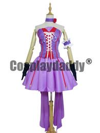 Wholesale macross cosplay for sale – halloween Macross Frontier Cosplay Sheryl Nome Purple Dress