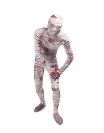 Wholesale mummy catsuit costume online – ideas DHL Full Body Lycra Spandex Zentai Mummy Unisex Adult Party Cosplay Costume