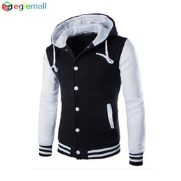 Varsity Hoodies Canada - Wholesale-New Hoodies Baseball Jacket Men sweatshirt Varsity Jacket masculino Men Slim Fit Brand Stylish College Jacekt Veste Homme WT055