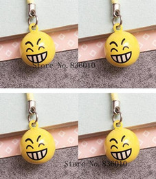 $enCountryForm.capitalKeyWord Canada - Wholesale Lot Cartoon Teeth Smiling face Charms Bell Pendant With Strap Cellphone Key Chains Toy pendant