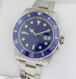 Sub Steel Canada - Factory Supplier Luxury 116619 SUB WHITE GOLD BLUE BEZEL DIAL Mechanical Automatic Men's Casual Wristwatches Stainless steel Mens Watch