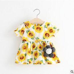 $enCountryForm.capitalKeyWord NZ - Summer wear girls dresses fashion floral printing short sleeves cotton dress mini skirt kids Children's clothes baby Girl's blouse