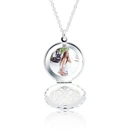 "$enCountryForm.capitalKeyWord UK - Locket Pendant Necklace 925 Sterling Silver Round Shape 1.7mm Thick Fashion Accessories You Can Put Photos Christmas Gift 18"" inch XL000466"