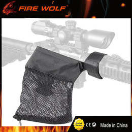 FIRE WOLF AR-15 Ammo Brass Shell Catcher Malla Trampa Cierre con cremallera para descarga rápida Nylon Mesh Negro Envío gratis en venta