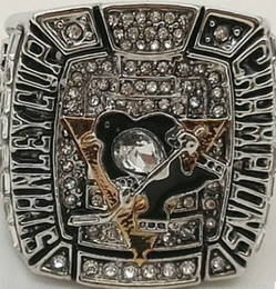 Pittsburgh Rings NZ - Men fashion sports jewelry 2009 Pittsburgh Pen guins championship ring fans souvenir gift