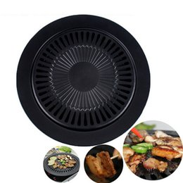 fry pans Australia - Eco-Friendly Cooking Tools Non -Stick Gas Grill Pan Refined Iron Black Barbecue Frying Roasting Pans Outdoor Saucepan Panela Sartenes