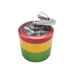 $enCountryForm.capitalKeyWord Australia - 4 layers 50mm red,yellow and green aluminum alloy metel Grinder Herbal smoking tobacco hookah pipe Mills muller Hand crank