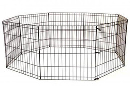 China 24-Black Tall Dog Playpen Crate Fence Pet Kennel Play Pen Exercise Cage -8 Panel suppliers