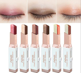$enCountryForm.capitalKeyWord NZ - NOVO color eye shadow 6 different colors 3.8g velvet Gradient color Eyeshadow Stick 120pcs lot DHL