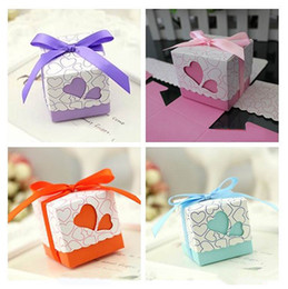 $enCountryForm.capitalKeyWord Canada - Wedding Candy Box Wedding Favor Candy Boxes Ribbons Are Included Pink and Purple Colours Wedding Party Gift Box New Arrival