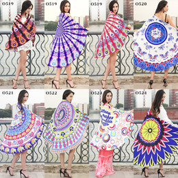 wrapping beach towel round mandala multi function wrap serviette best covers shawl beautiful color picnic mat hot sell 19mda j r - Beach Towels On Sale