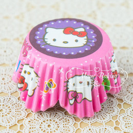 Cupcakes Mix Australia - Hello Kitty Cartoon Cupcake Liner Muffin Cake Liners Cupcake Wrappers Paper Baking Cups Bakeware Cake Tool