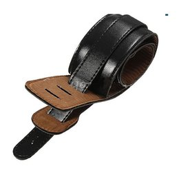 Acoustic electric bAss guitAr online shopping - Hot Soft PU Leather Thick Strap For Electric Acoustic Guitar Bass Black