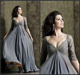 $enCountryForm.capitalKeyWord NZ - New Design Deep V-Neck A Line Prom Dresses Evening Wear Floor Length Sexy Backless 1 2 Sleeve Ruffle Applique Party Dresses For Women