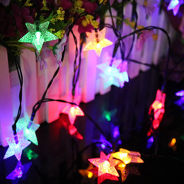 discount solar led christmas star wholesale 48m 20leds star solar powered waterproof outdoor led