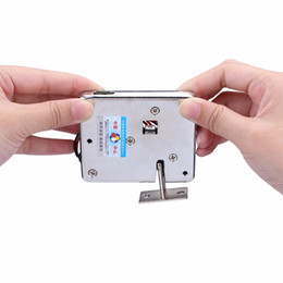Wholesale  DC12V Electronic Lock Cabinet Electric Door Lock Small Electric  Lock Bolt F1746D