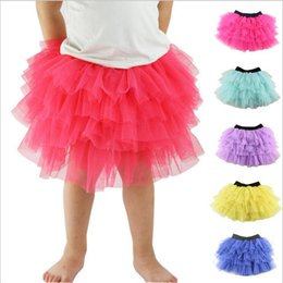 Danse En Mousseline De Soie Ballet Pas Cher-Baby Kids Girls Tulle Tutu Jupes Party Ballet Dance Wear Robe Ruffle Fluffy Jupe en mousseline de soie Pettiskirt Costume Princess Dance Clothes 2-8Ys