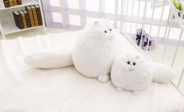 $enCountryForm.capitalKeyWord Canada - 30cm white fat cat stuffed plush persian cat doll kids animla plush throw pillow sofa back cushion birthday gifts for girlfriend