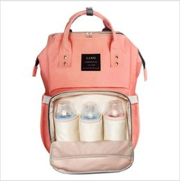 Wholesale Land 26 colors Mommy Backpacks Nappies Bags Mother Maternity Diaper Backpack Large Volume Outdoor Travel Bags Organizer retail MPB01