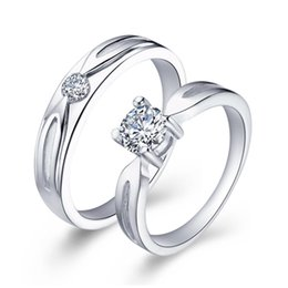 Diamond Jewelry Sets Sale NZ - Wedding Rings for Women Male Ornamentation Imitation Diamond Jewelry Sale Love Ring Set Anel de Prata Fashion J041