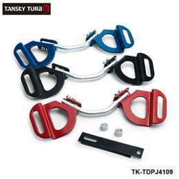 Tansky Clamp Australia - TANSKY - Car Truck Red Adjustable Battery Hold Tie Down Clamp Mount Bracket Holder Bar For Subaru Toyota TK-TDPJ4109