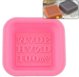 $enCountryForm.capitalKeyWord UK - 500pcs Newly Design Hot Selling Delicate Cute Craft Art Square Silicone Oven Handmade Soap Molds DIY Soap Mold
