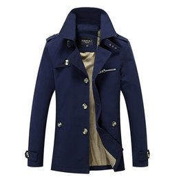 Gros-hommes veste veste manteau printemps et automne hommes veste décontractée lavé longs manteaux de plein air manteaux de coton pour hommes hiver vers le bas parka en Solde