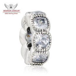 $enCountryForm.capitalKeyWord Canada - Memnon Jewery 2016 Autumn 925 Sterling Silver Round Shape CZ Diamond Big Hole Spacer charms Bead Fit charm Bracelets DIY Jewelry Make SP041