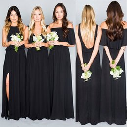 83439c052ee african maid honor dress styles 2019 - 2017 Summer Boho African Black  Bridesmaid Dresses Mixed Styles
