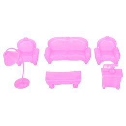 barbie doll house furniture sets. 2017 barbie doll house sets 6pcs set plastic sofa couch cute dollhouse furniture for