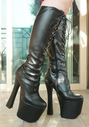 Sex Boots NZ - 20CM High Height Sex boots Women's Boots Bulky Heel Platform Knee-High Boots No.2001