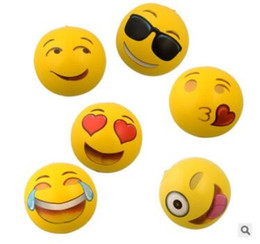 Inflatable Pools Wholesale Canada - Emoji Beach Ball Smile Face Inflatable PVC Beach Balls Toys Adult Children Party Sand Water Fun Toys Swimming Pool Outdoor Beach Balls J519
