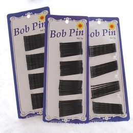 Wholesale Selling black wire word hairpin Liu Hai fixed plate hairpin blue card FJ002 mix order set pieces