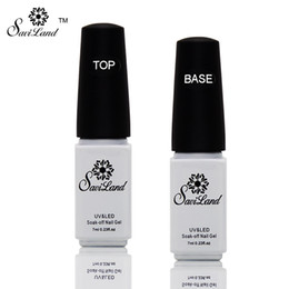 Parte Superior De La Base Baratos-Venta al por mayor-Saviland 2pcs base de no-limpieza y Tpp abrigo para el gel de gel UV Top Coat Top it off laca de uñas base de clavos de pegamento