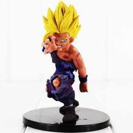 Free Goku Figures UK - 12cm Dragon Ball Son Goku PVC Action Figure Collectable Model Toy for kids gift free shipping retail
